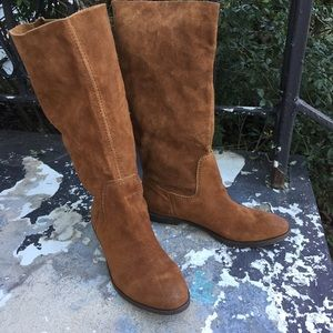 Nine West brown suede leather frolic boots 7.5
